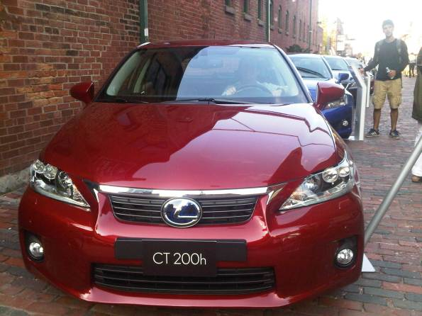 Me in the red Lexus CT 200h