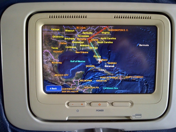 My Delta flight's path from Miami to Atlanta