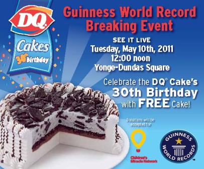 FREE Ice Cream At The Dairy Queen Cakes 30th Birthday