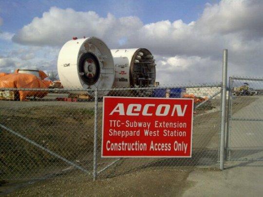 TTC Sheppard West Subway Station Construction Site. Downsview Park, Toronto. April 2011