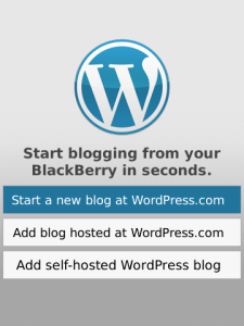 WordPress for BlackBerry app screenshot