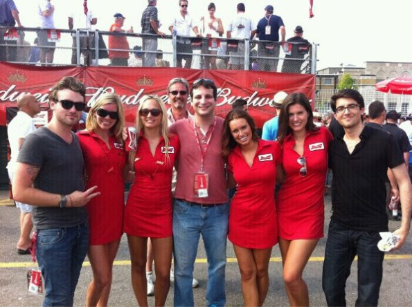 us with Bud girls