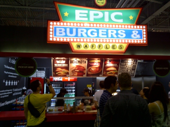 Epic Burgers and Waffle stand @ The Canadian National Exhibition CNE The Ex 2011