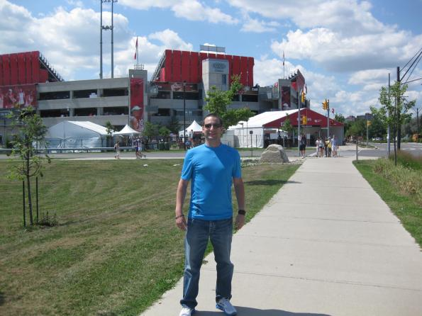 #RogersCup 2011 outside the Rexall Centre Toronto