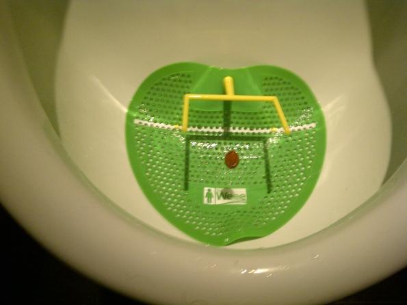 football urinal at real sports bar and grill toronto canada
