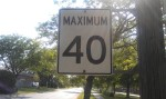 Ontario, Canada Speed Limit Sign - 40 KM Per Hour