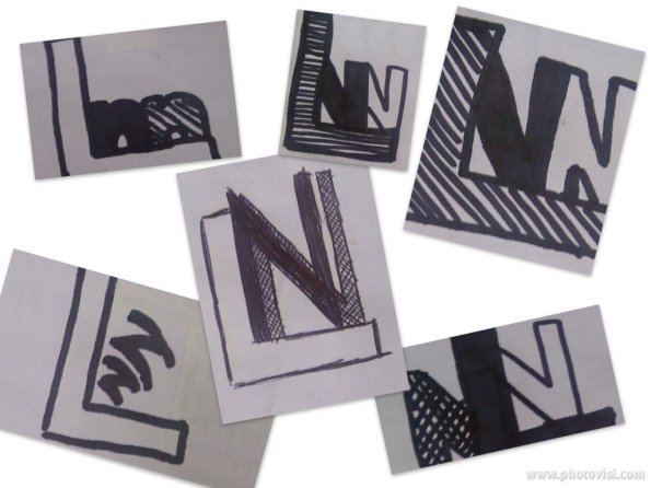 LNN Logo Favicon sketch collage