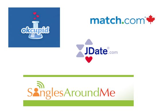 Online dating sites logos