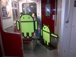 Two Androids riding the TTC post-#AndroidTO just like any other regular joe.