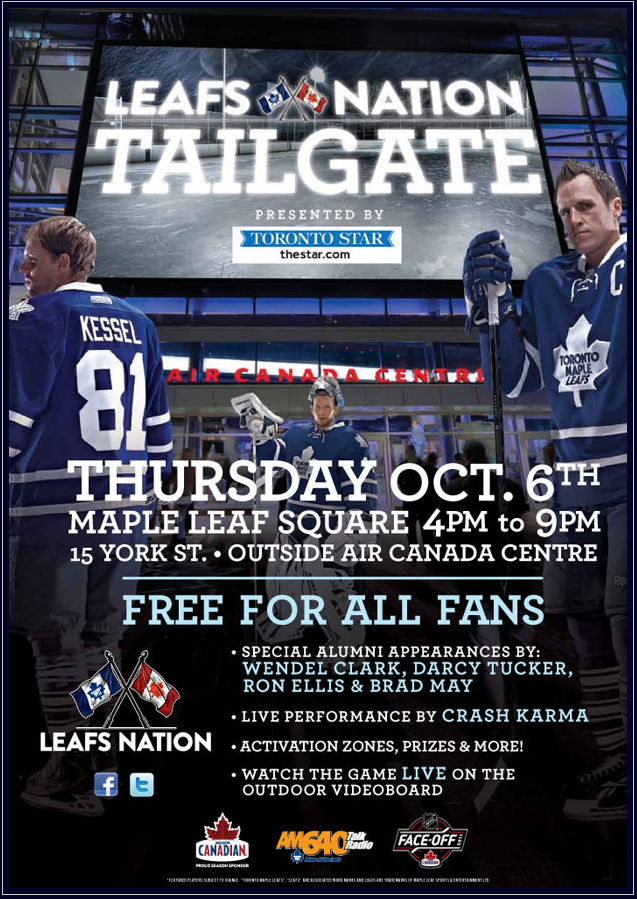 Leafs Nation Tailgate 4pm