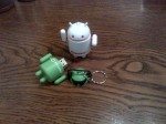 Rogers Android swag from #AndroidTO. White Android is an audio speaker & Green is a 2GB USB key