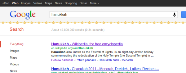 Google Holiday Egg Hanukkah