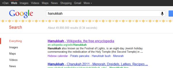 Google Holiday Egg Hanukkah