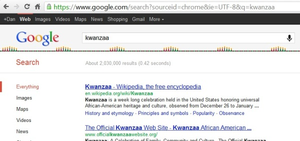 Google Holiday Egg Kwanzaa