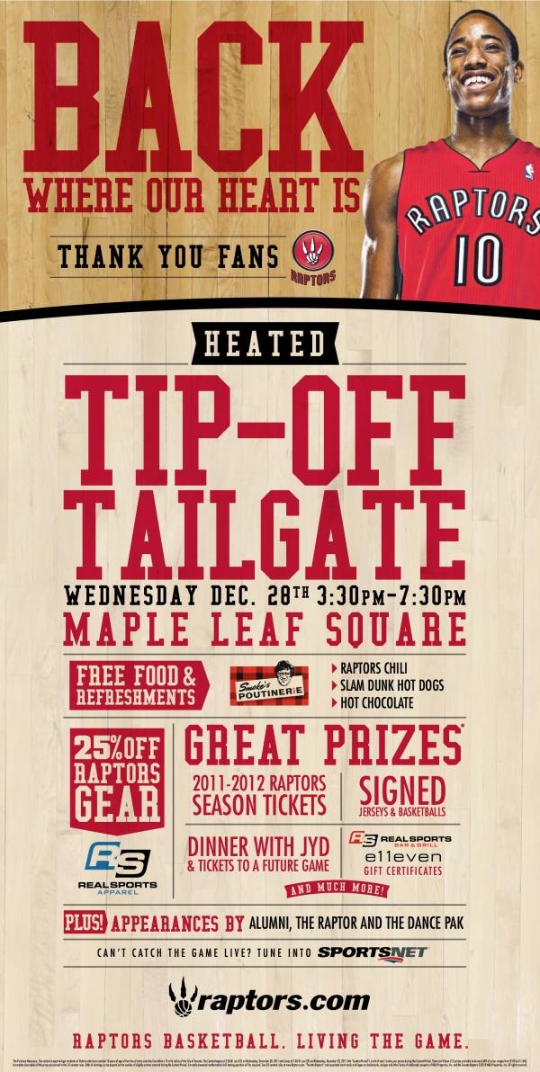 raptors 2011 tailgate home opener flyer