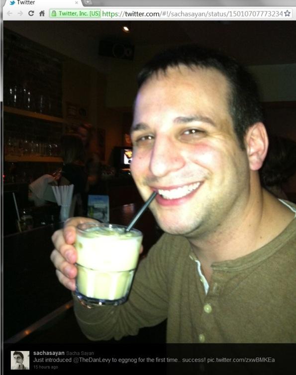 Trying Eggnog at Grindhouse Burger Bar