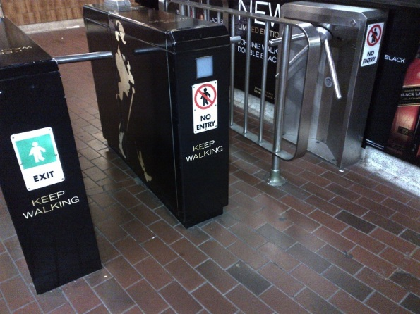 ttc subway turnstile johnnie walker