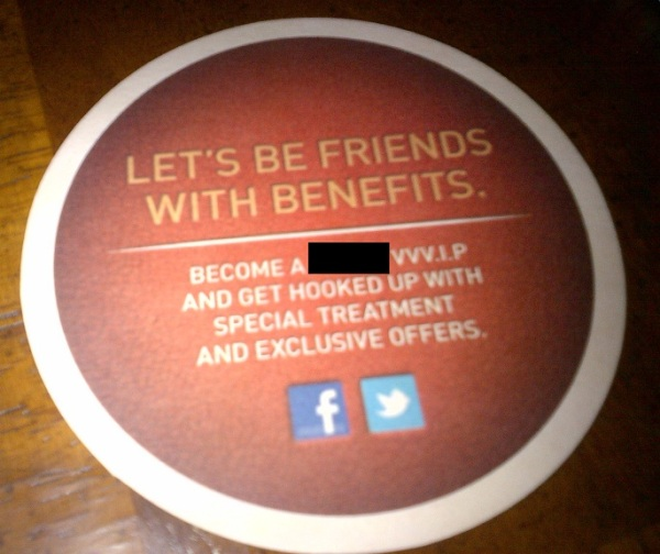 Coaster With Just Facebook & Twitter Logos