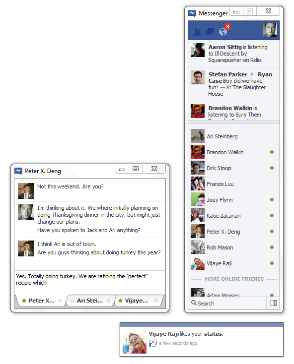 Facebook Windows 7 Messenger  Windows