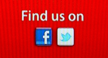 Find Us On Facebook + Twitter Logo