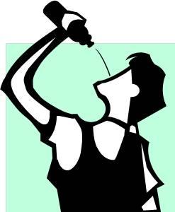 sportsdrink drinker