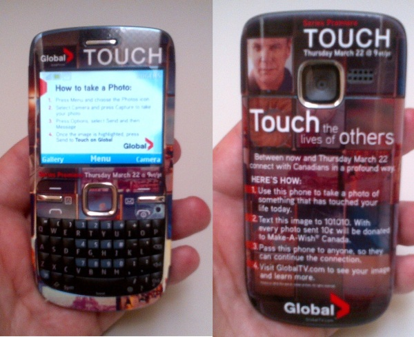 #GlobalTouch Phone front back