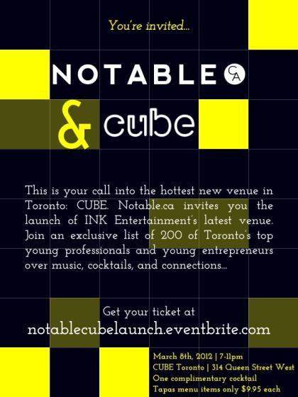 #notablecubelaunch poster
