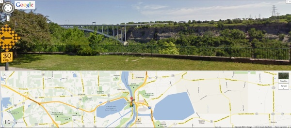 Queenston Lewiston Bridge from Canadian Side 14000-14004 Niagara Pkwy in GoogleMaps Street View