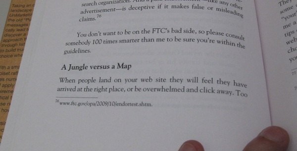 URL Link in a book's footnote