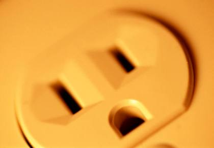 Electrical Outlet North America close up