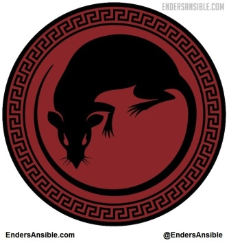 Enders Game Rat Army logo via EndersAnsible.com