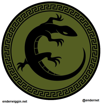 Enders Game Salamander Army Battle School Logo via enderwiggin.net