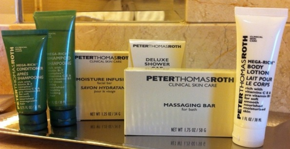 Hotel Bathroom toiletries via Chris Vollick