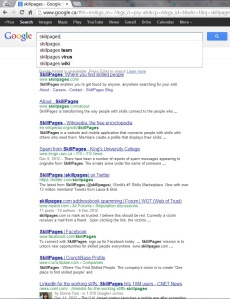 SkillPages Google Results