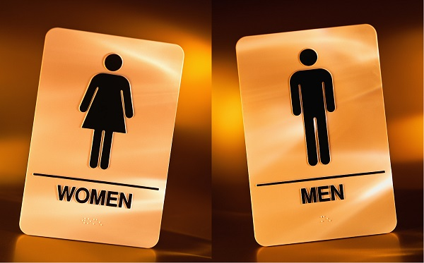 Battle of the sexes the toilet seat debate lnn levy news network Men women bathroom signs