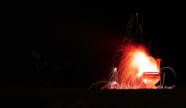 Fireworks from toilet by  stephenthruvegas on flickr