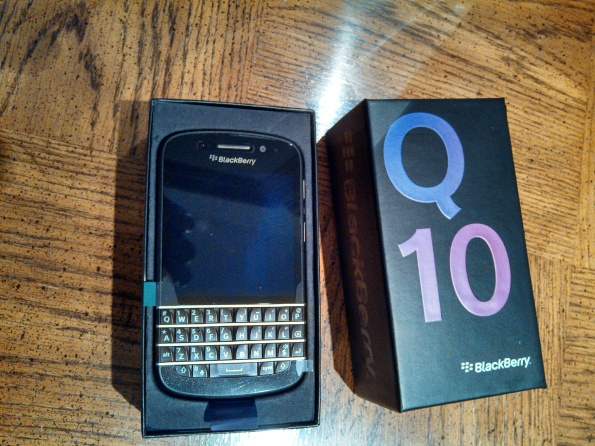 BlackBerry Q10 from TELUS in box