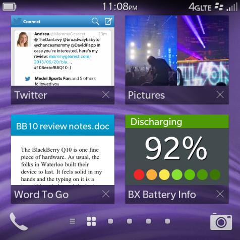 BlackBerry Q10 Main Screen