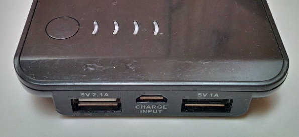 Scosche goBAT II charging ports & on-off button with lights