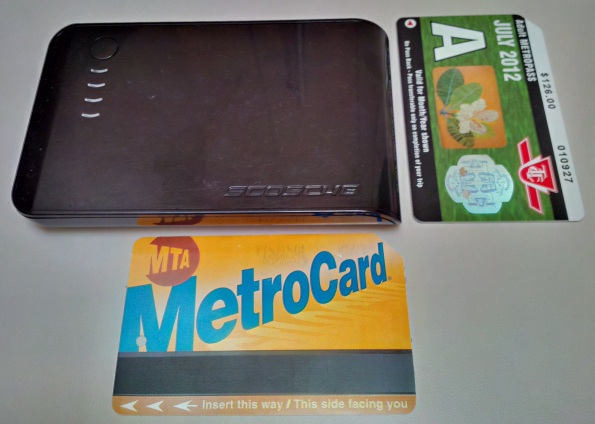 Scosche goBAT II with NYC MTA MetroCard for scale