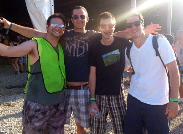 Veld 2012 Day 2 with the boys outside the tent