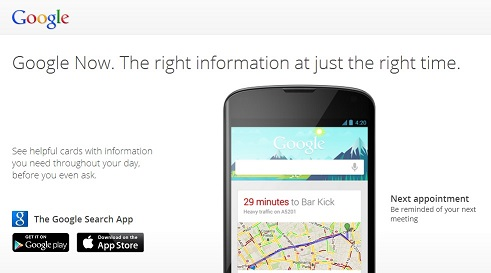 Google Now Demo Page