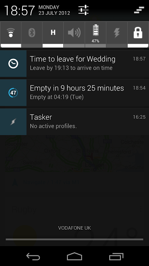 Google Now Time To Leave Notification Android via forums.digitalspy.co.uk