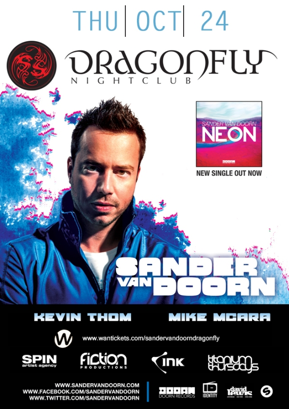 2013 Sander van Doorn at Dragonfly Niagara Falls poster