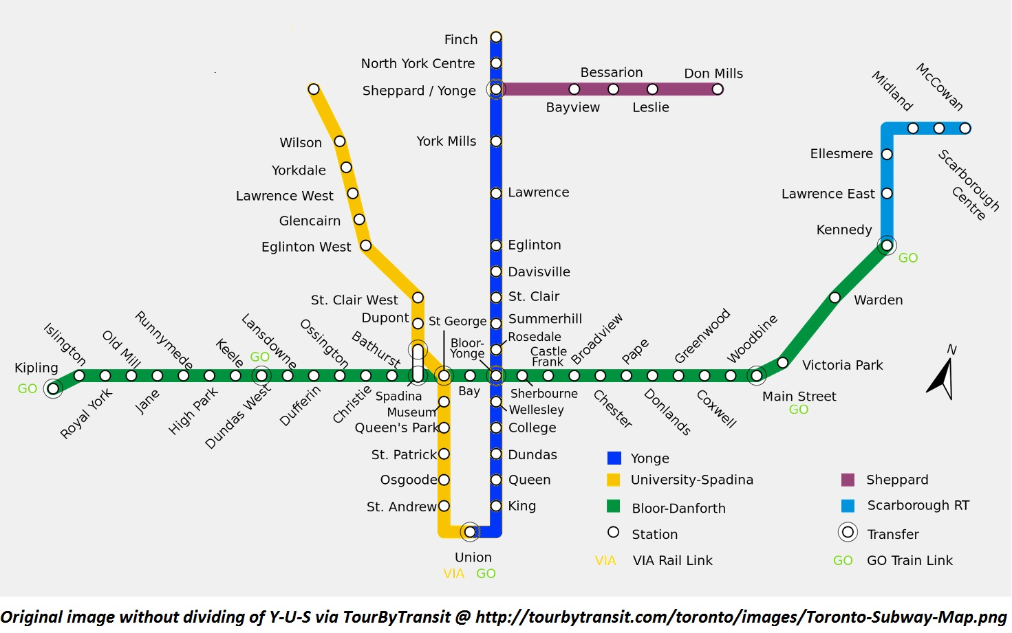 Toronto Subway Map Print.One Simple Way The Ttc Can Fix Signage Visually Separating Yonge
