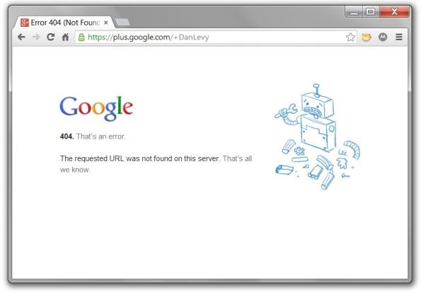 Google Plus Vanity URL +DanLevy 404 page.jpg