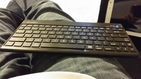 Kensington KeyFolio Pro 2 Keyboard on Lap