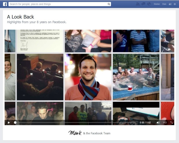 Look Back Facebook