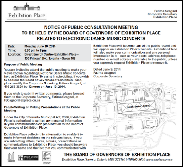 exhibition board of governers public consultation meeting June 2014