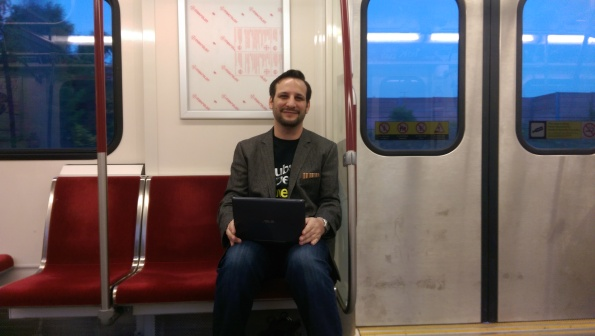 Using the Intel Asus tablet on the TTC Subway train writing this post.